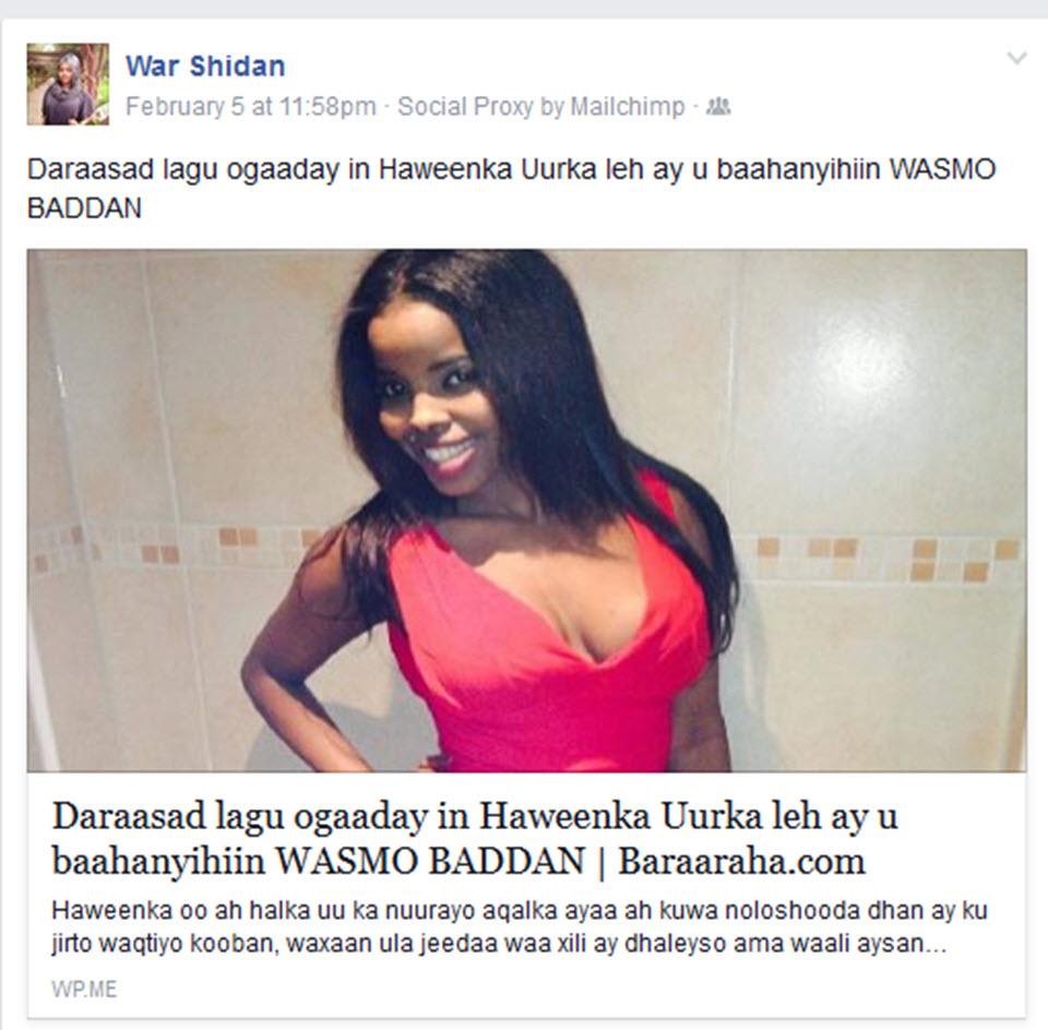 ABDRIZAK KAMPALA OO GABDHAHA SOMALIDA ONLINE KU FADEEXEYN